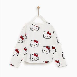 Zara Hello Kitty long sleeve shirt